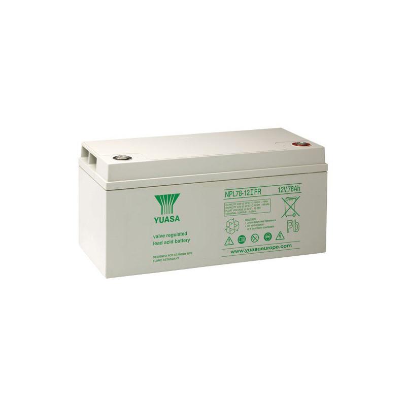 Batterie plomb étanche NPL78-12 Yuasa 12v 78ah