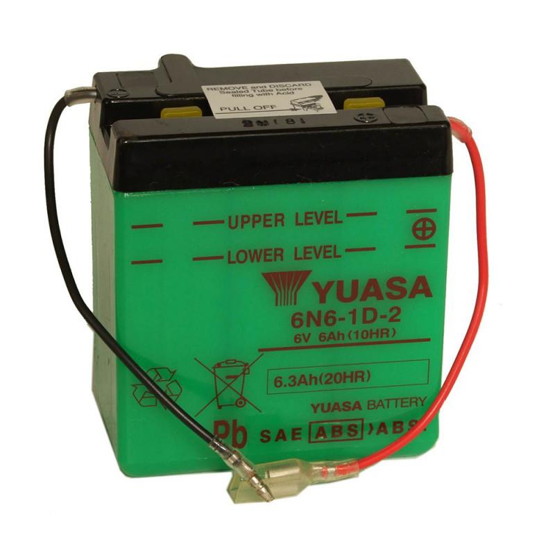Batterie moto YUASA 6N6-1D-2 6V 6.3AH