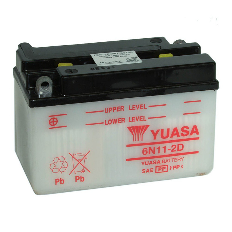 Batterie moto YUASA 6N11-2D 6V 11.6AH