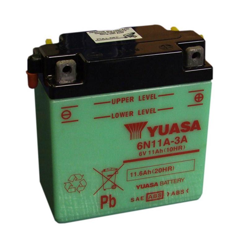 Batterie moto YUASA 6N11A-4 6V 11.6AH
