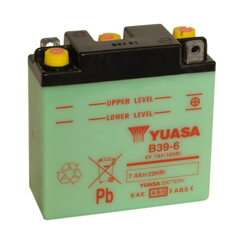 Batterie moto YUASA B38-6A 6V 13.7AH