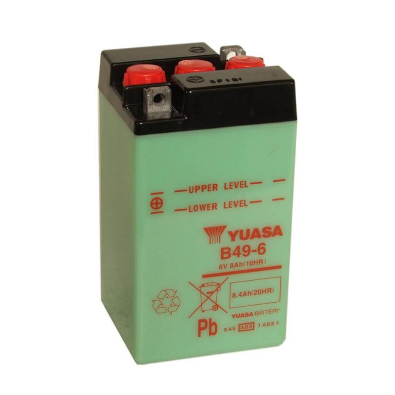 Batterie moto YUASA B49-6 6V 8.4AH