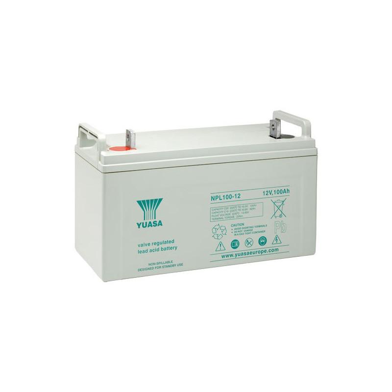 Batterie plomb étanche NPL100-12 Yuasa 12v 100ah