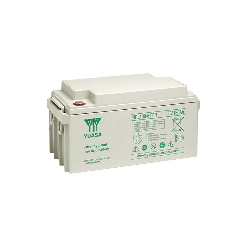 Batterie plomb étanche NPL130-6 Yuasa 6v 130ah