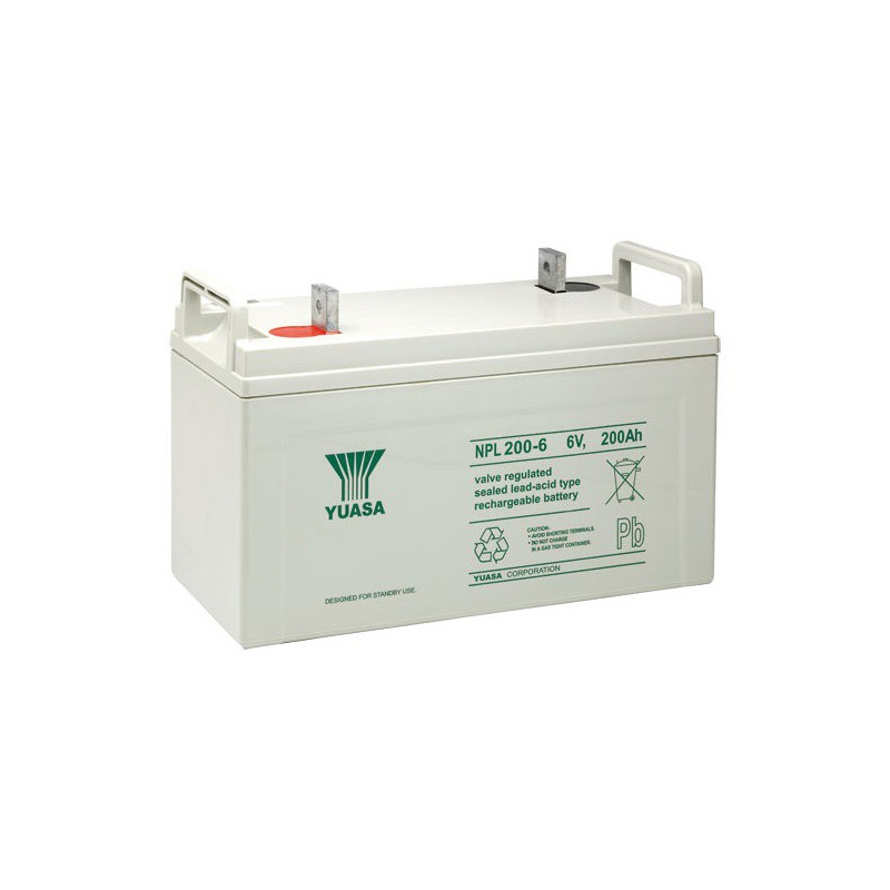 Batterie plomb étanche NPL200-6 Yuasa 6v 2000ah