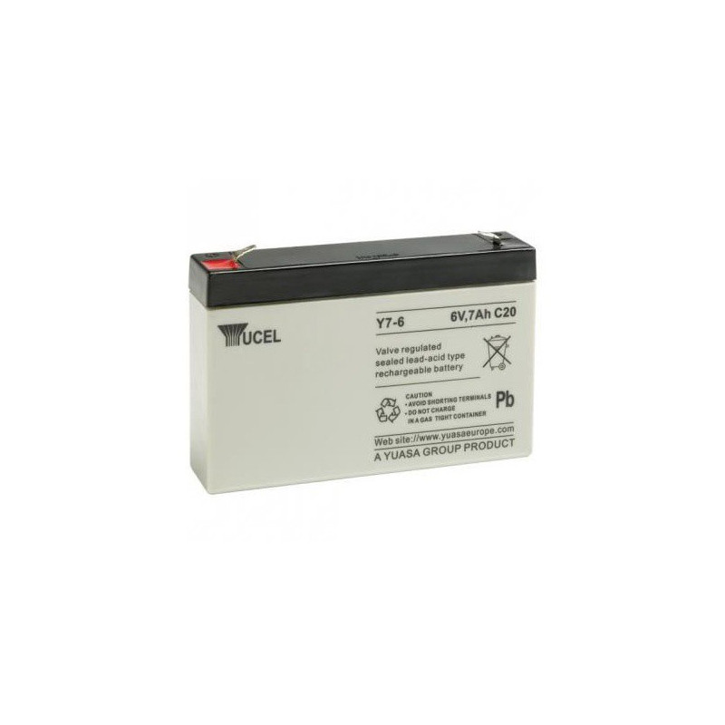 Batterie plomb étanche Y7-6 Yuasa Yucel 6v 7ah