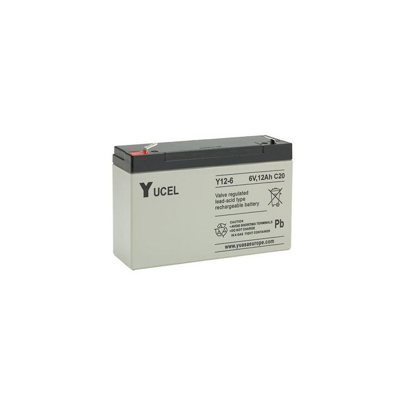 Batterie plomb étanche Y12-6 Yuasa Yucel 6v 12ah