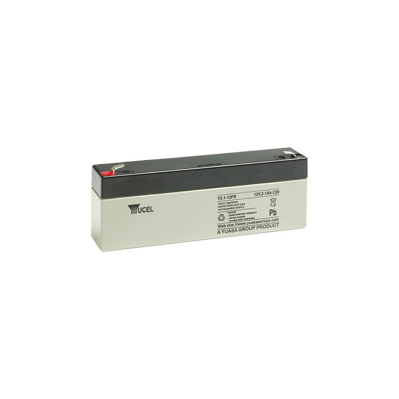 Batterie plomb étanche Y2.1-12FR Yuasa Yucel 12v 2.1ah