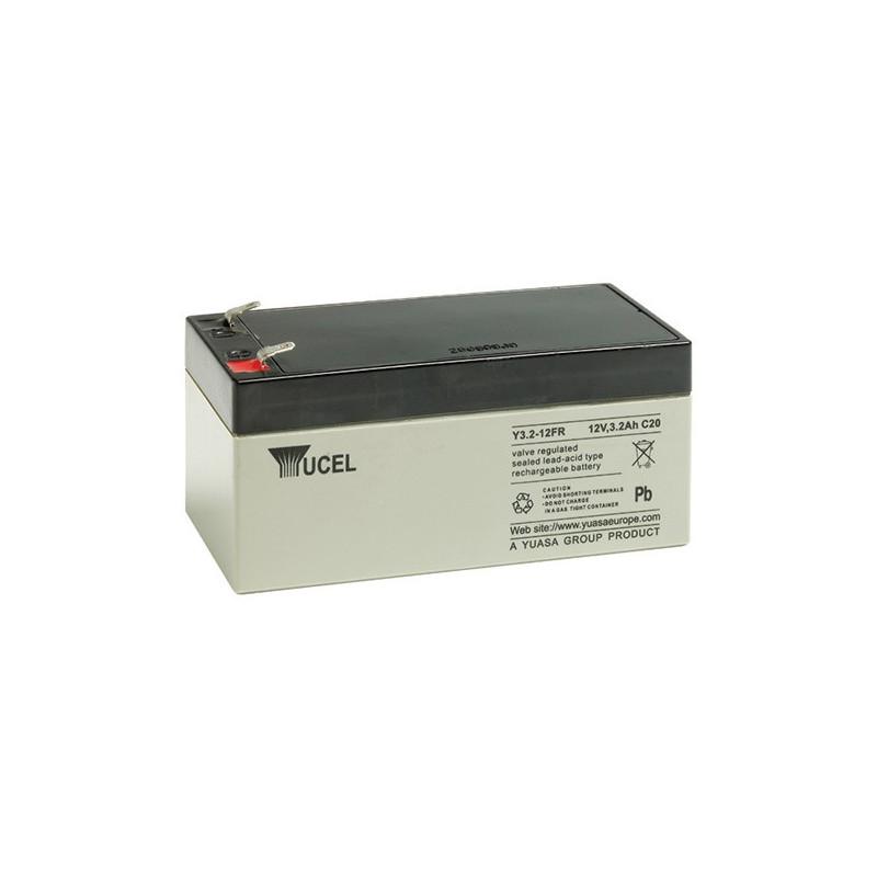 Batterie plomb étanche Y3.2-12 Yuasa Yucel 12v 3.2ah