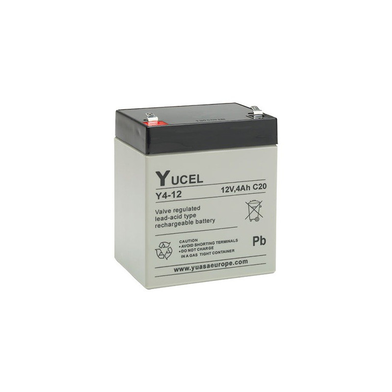 Batterie plomb étanche Y4-12 Yuasa Yucel 12v 4ah