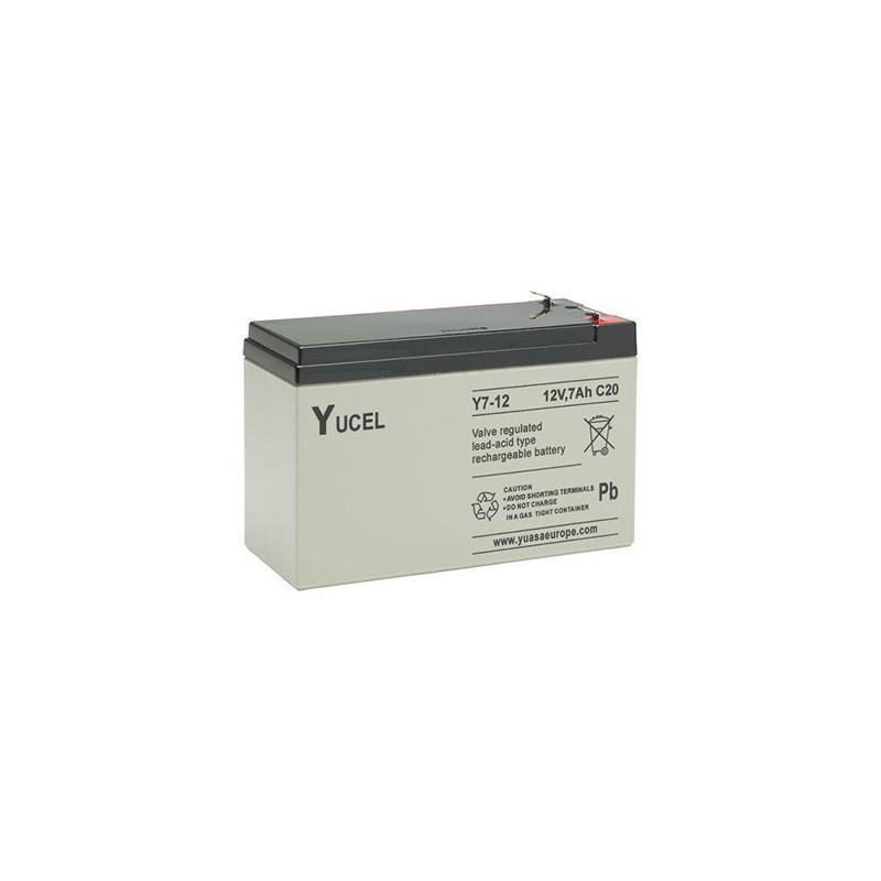 Batterie plomb étanche Y7-12FR Yuasa Yucel 12v 7ah